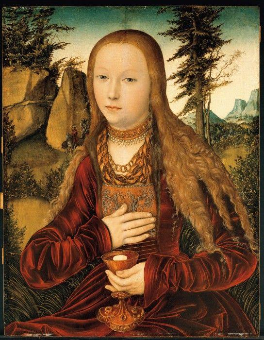 Святая Варвара, художник Лукас Кранах Старший, 1530 г.