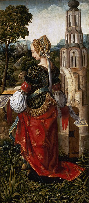 Святая Варвара, мастер из Франкфурта, около 1510-1520